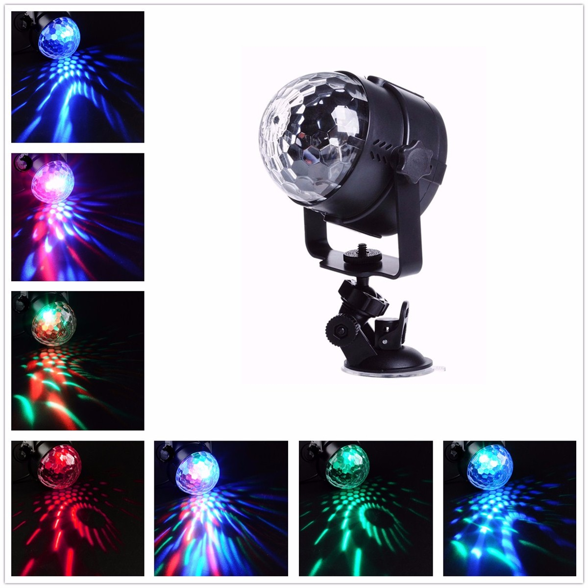 Voice Control Magic LED Stage Light Crystal Ball Night Lamp Sucker Plate Stand DJ Club Pub Disco Wedding Party Show Lighting mini rgb led party disco club dj light crystal magic ball effect stage lighting