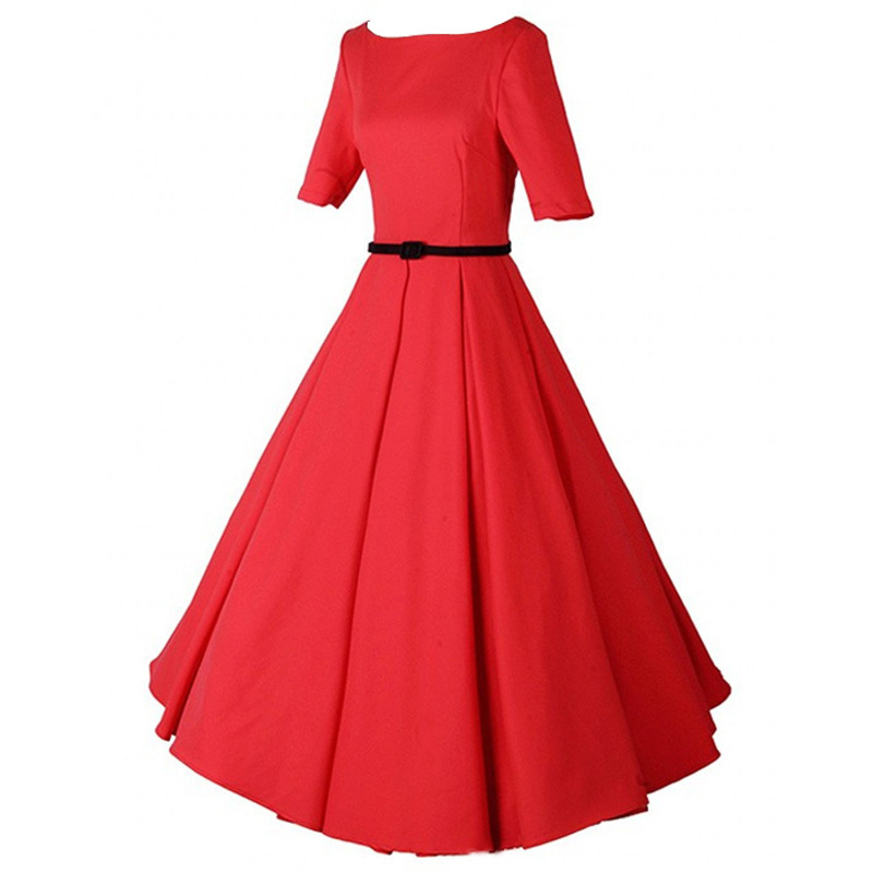 Hepburn Style 50/'s Evening Party Wedding Prom Rockabilly Retro Swing Dress