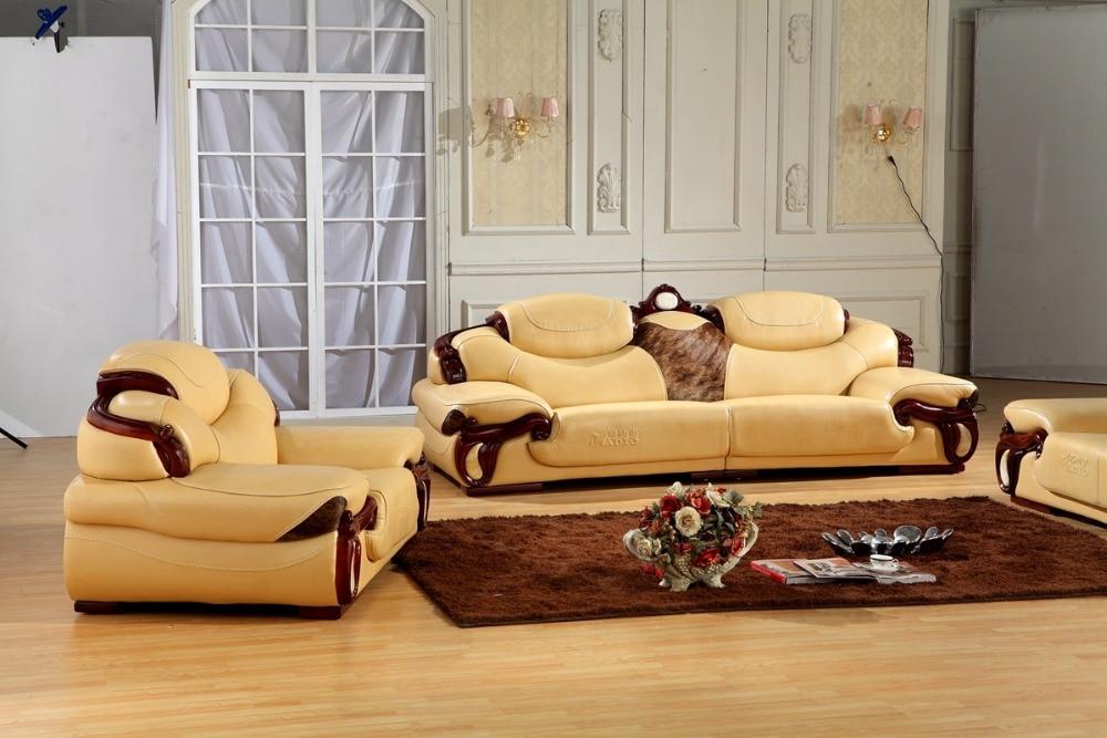 antique european leather sofa set living room sofa made in china