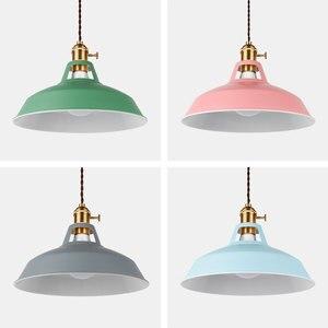 Image 4 - 2 Pieces Pendant light,Modern pendant lamp,multiple colour luminary,Loft hanging lamp,knob Switches,E27 base,for home&store