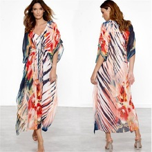 Beach Dress Kaftan Pareo Sarongs Sexy Cover-Up Chiffon Bikini Swimwear Tunic Swimsuit Bathing Suit Cover Ups Robe De Plage pareo beach white cover up chiffon bikini swimwear women robe de plage beach cardigan bathing suit swimsuit long blouse dress