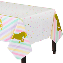 FENGRISE Unicorn Party Tablecloth