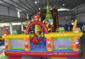PVC commercial grade large trampoline inflatable land slide/inflatable bouncer for kids and adults/outdoor playground
