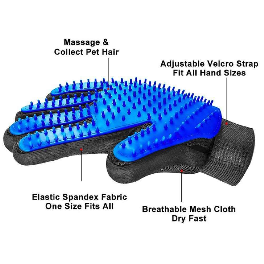 Pet yumuşak silikon eldiven köpek kedi bakım saç Deshedding fırça tarak hayvan epilasyon eldivenler hayvan temizleme masaj tarak