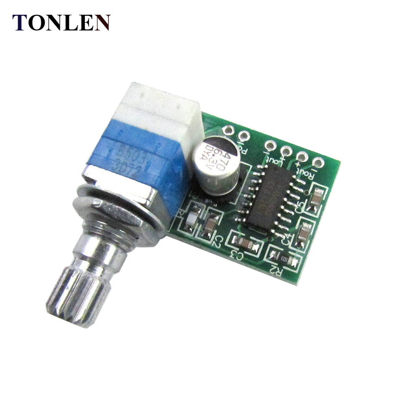 TONLEN Mini PAM8403 Digital Amplifier Board 5V Ultra Small 2.0 with Volume Adjustment DIY Sound System