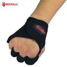 Boodun Professional Hand Protect Anti-slip Body Building Gloves Weight Lifting Sport Gloves Breathable Half Finger Gloves