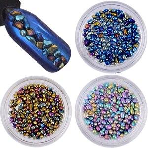 Chameleon Stone 3D Nails Rhinestone Small Irregular Beads Manicure 1 Box 4g Nail Art Decoration For Women DIY Nail Beauty