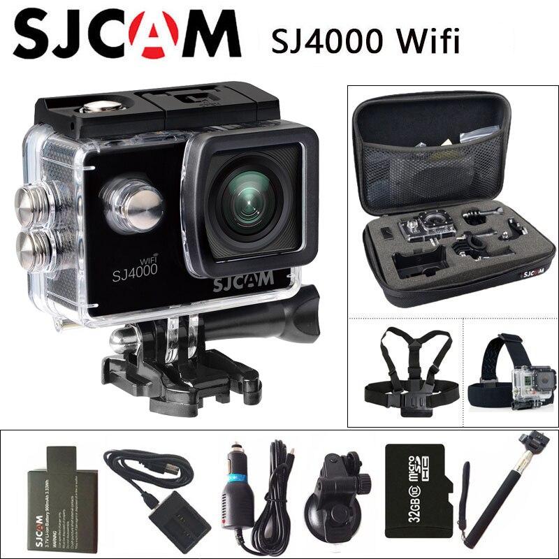SJ4000 SJCAM WiFi Câmera de Ação de Esportes 1080 P Tela de 2.0 polegada 30 M À Prova D' Água de Mergulho Full HD Filmadora mini Original SJ 4000 Cam