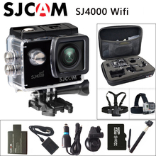 SJCAM SJ4000, WiFi, экшн-камера для занятий спортом, Камера 1080 P 2,0 дюймов Экран Full HD камера для дайвинга на глубину до 30 м Водонепроницаемый мини видеокамеры оригинальный SJ 4000 Cam