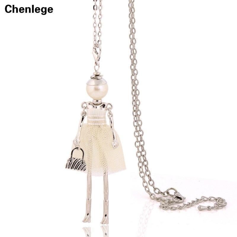 personlighed design dukke halskæde lang kæde vedhæng halskæder - Mode smykker - Foto 5