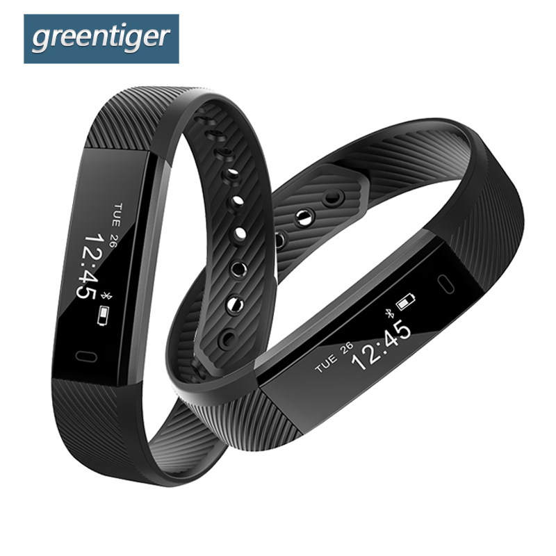 Greentiger ID115 HR Smart Band Heart Rate Monitor Bluetooth Smart Armband Fitness Tracker Pedometer Smart Armband