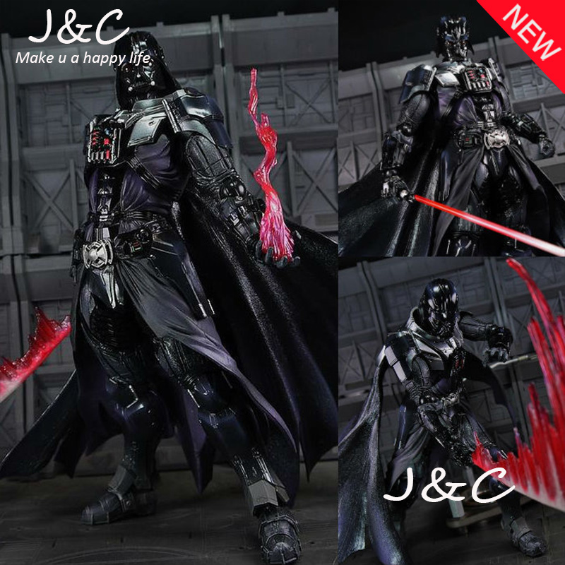 ФОТО NEW Star Wars PVC Darth Vader Play Arts KAI PA Dark Lord 27cm Anakin Skywalker Cartoon Figure Model