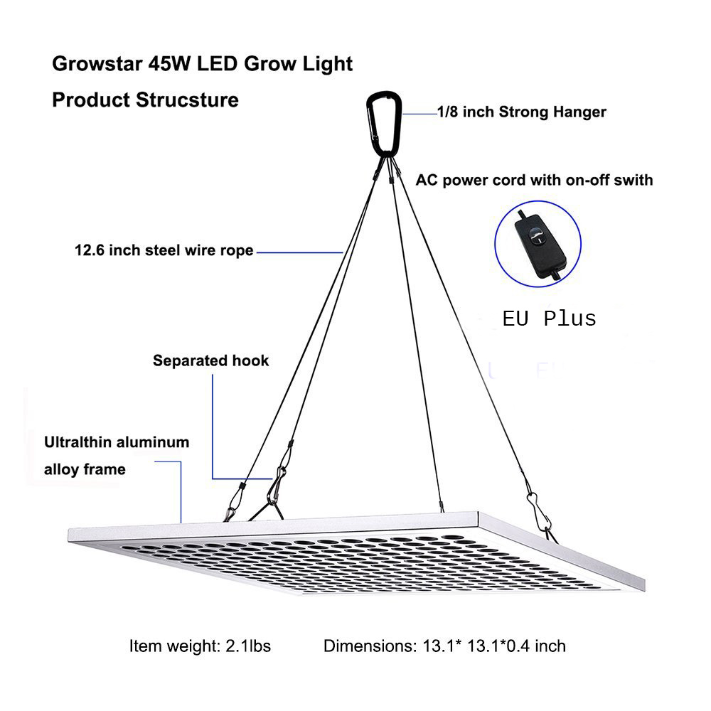 Spider Cob 225 LEDs Grow Light Kits 45 Watt Full Spectrum LED Plant Grow  Light For Indoor Veg Bloom Only 1.1cm Thickness-in LED Grow Lights from  Lights ...