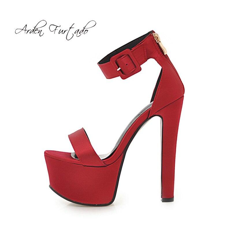 Correa 16 Furtado Zapatos Sandalias Tacones Verano Talla Arden 40 48 Red  Grande Purple Moda 2018 blue Mujer Cm Plataforma Para Tobillo Altos purple  ... cafa05b706dd