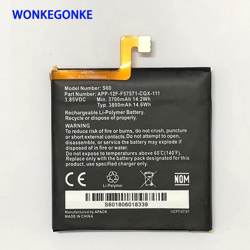WONKEGONKE New Original 3800mAh Battery For CAT S60 High Quality Batteries Bateria