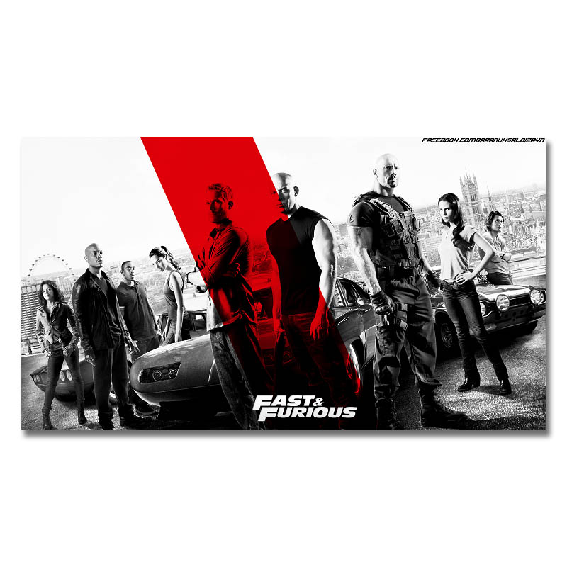 2017 Snelle En Furious 8 Film Art Silk Poster Of Canvas Poster 13x24 24x43 Inch Pictures (klik Om Meer)-5