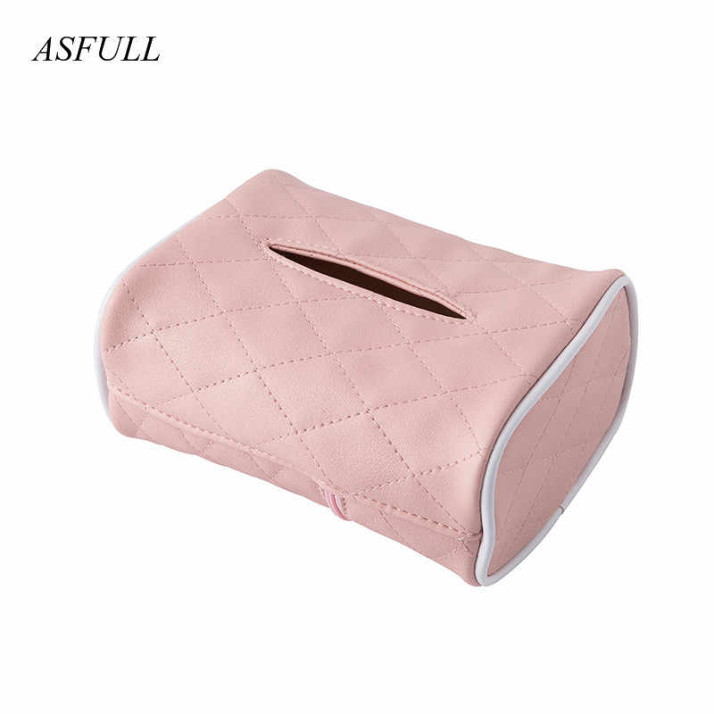 ASFULL2018 Bathroom Car Room PU Leather Tissue Box Napkin Holder Auto Paper for Cover Case Organizer Towel Holder Kleenex Boxes
