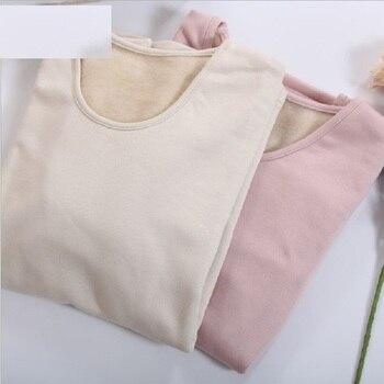 Las mujeres conjuntos de ropa interior térmica de 100% seda gruesa caliente Rosa térmica de manga larga Tops y pantalones de dos piezas 100% de seda conjuntos