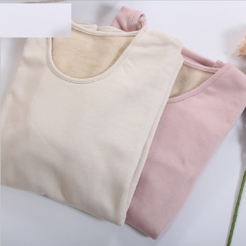 Women Thermal Underwear Sets 100% Silk Warm Thick Woman Pink Long Sleeve Thermal  Tops And Bottoms Two Piece Set 100% Silk Sets