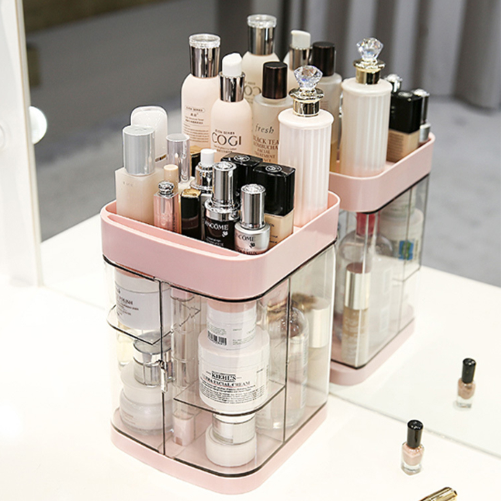 Hoomall New Clear Acrylic Makeup Storage Case Nail Polish Rack Lipstick Cosmetic Storage box Holder Makeup Brush Organizer in Storage Boxes Bins from Home Garden