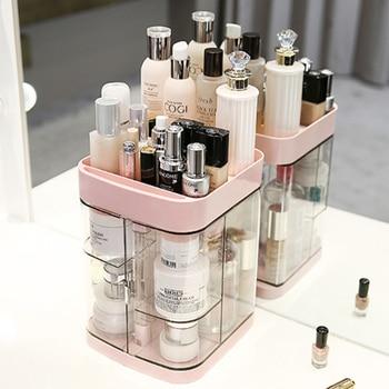 Hoomall-estuche de almacenamiento de maquillaje acrílico transparente, estante de esmalte de uñas,...