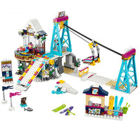 LEPIN 01042 Friends Snow Resort Ski Lift Gift Club Vacation Figure Building Blocks Bricks Toys For