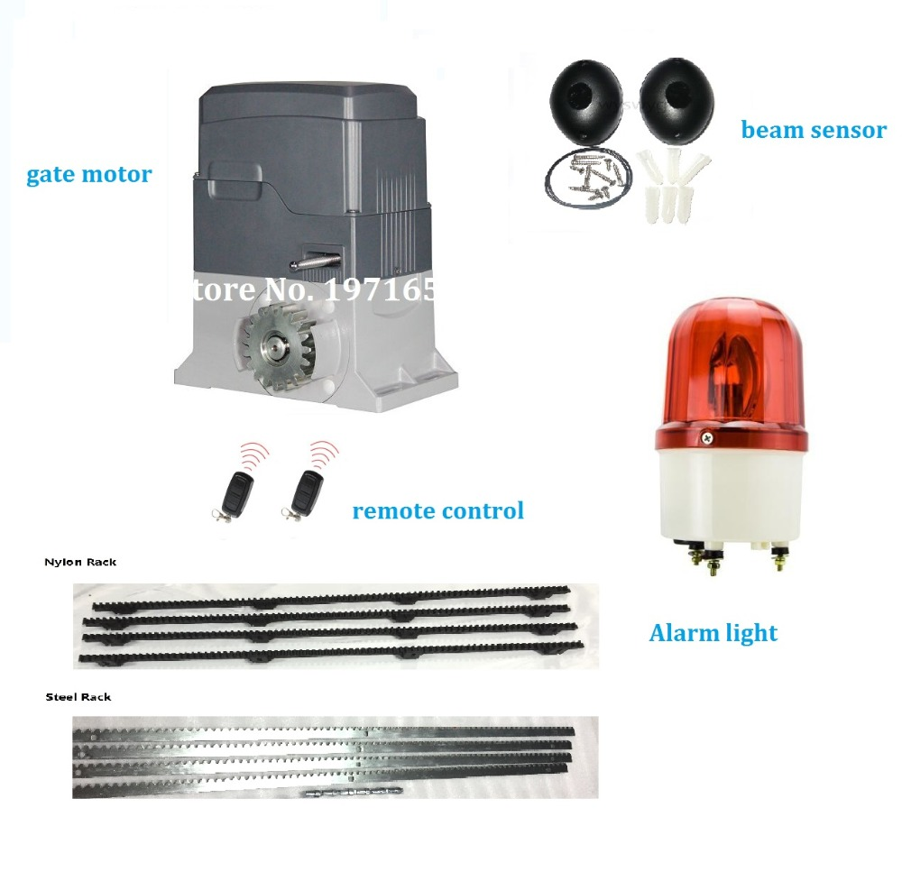 Heavy Duty Electrical home Auto Sliding Gate Motor Engine mechanical Limit Switch For Residential Area With 5M Rack