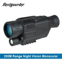 5x40 التكتيكية الرقمية ir صيد نطاق riflescope أحادي مطاردة يلة نظارات للرؤية الليلية تلسكوب
