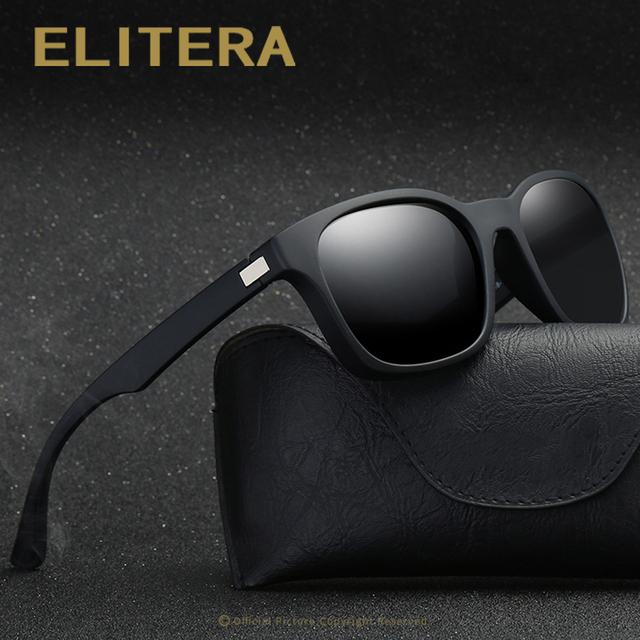 ELITERA Fashion Unisex Square Vintage Polarized Sunglasses men Women Brand Design Retro Sun glasses gafas oculos