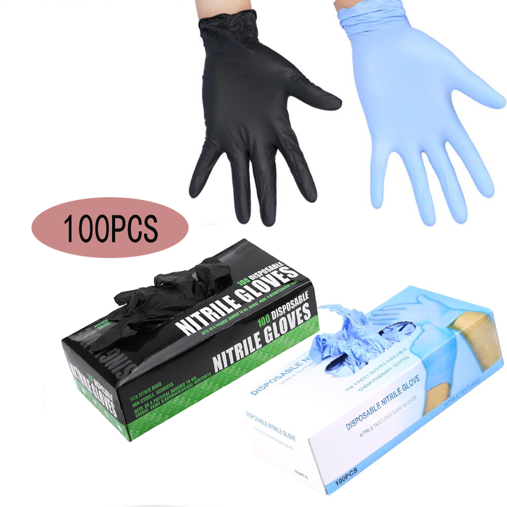 100Pcs/Box Tattoo Gloves Disposable Waterproof Tattoo Supplies Gloves Machine Kits Fingers Protector Latex Non toxic Accessories-in Tattoo accesories from Beauty & Health