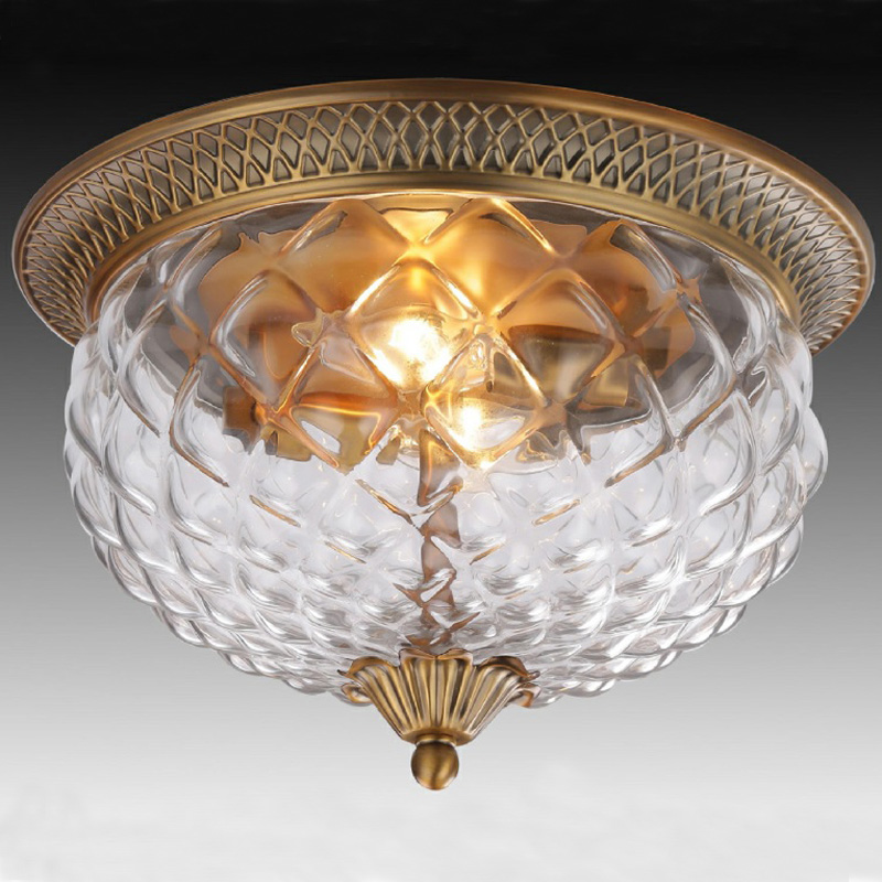 Vintage Ceiling Fixture Lamp American Creative Pineapple
