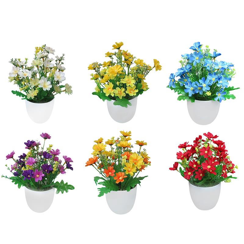 1 x Artificial potted flowers  sc 1 st  shopping with free shipping 2019 & Artificial Flowers Bright Color Lifelike Chrysanthemum Fake Plants ...