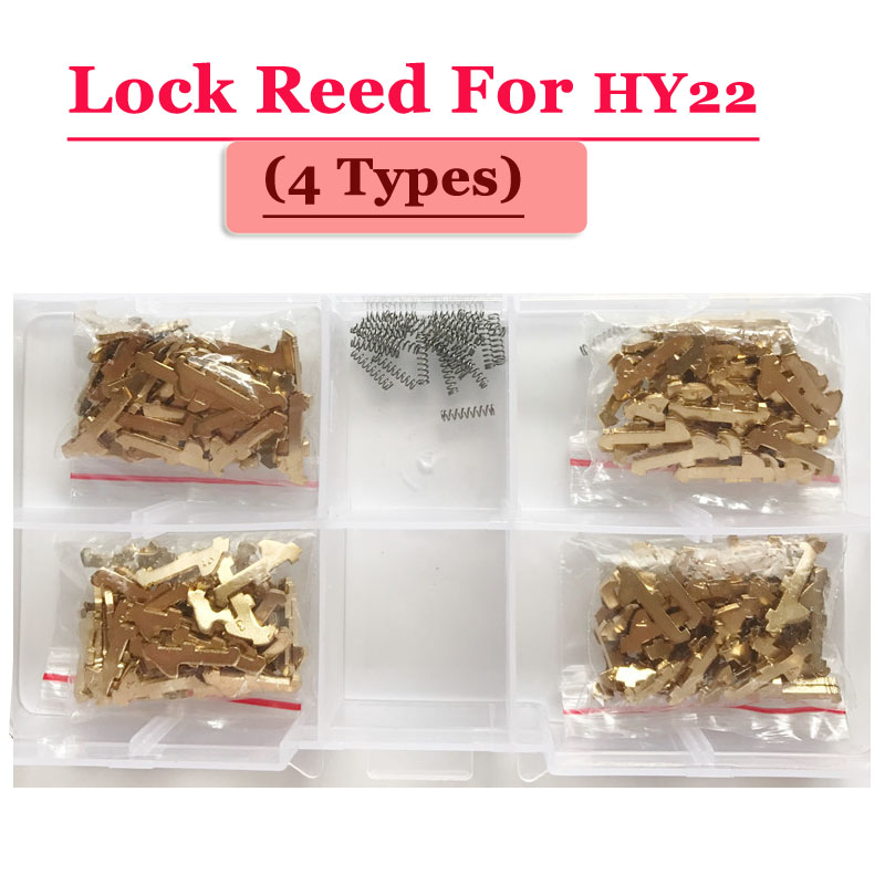 Free shipping (100pcs/box )HY22 car lock reed locking plate for Hyundai lock (each type 25pcs) Repair Kits 200pcs lot hu92 car lock reed locking plate hu92 car locks tablets lock spring car locksmith tools