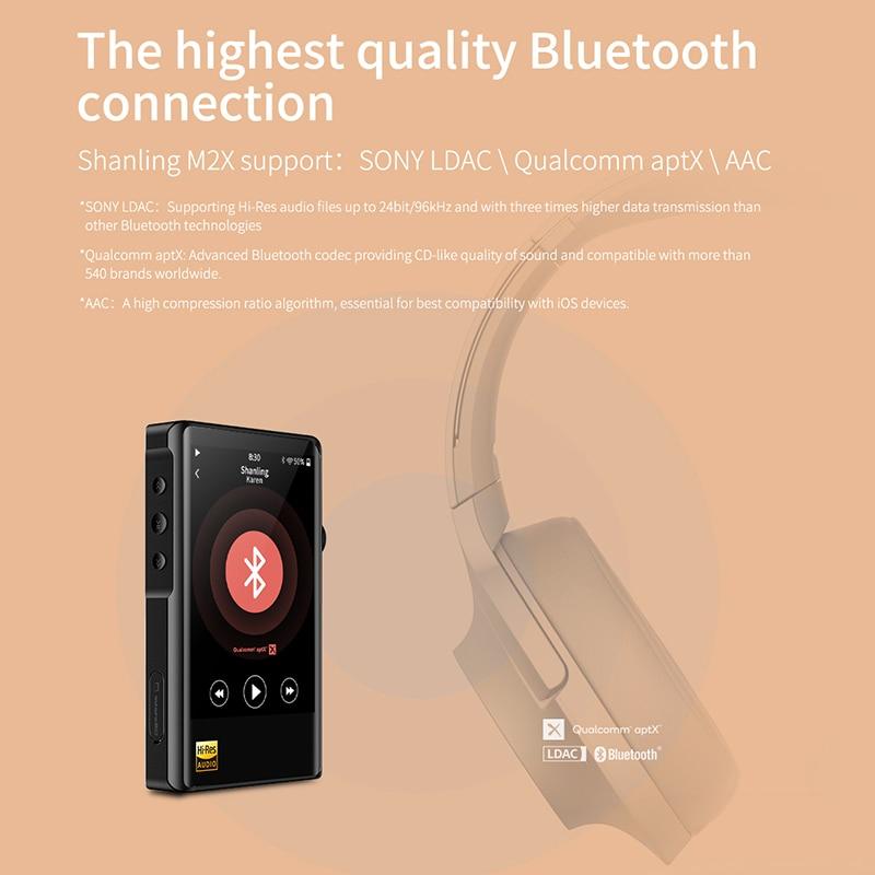 SHANLING M2X Hi-Res AK4490 DAC USB DSD Wifi Bluetooth HIFI Music MP3 Player PCM 32/384 Touch Screen Type C 4