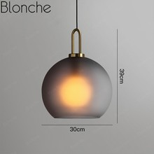 modern led gold pendant light fixtures with remote control kitchen living room loft hanging ring lamp decor home lighting 220v Modern Glass Ball Pendant Lamp Led Nordic Hanging Light Luxury for Living Room Bedroom Kitchen Lighting Home Decor Loft Fixtures