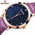 LONGBO 2017 New Women Watch Brand Fashion Starry Sky Luxury Quartz Analog Waterproof Watch Stars Roman Dial Genuine Strap Watch