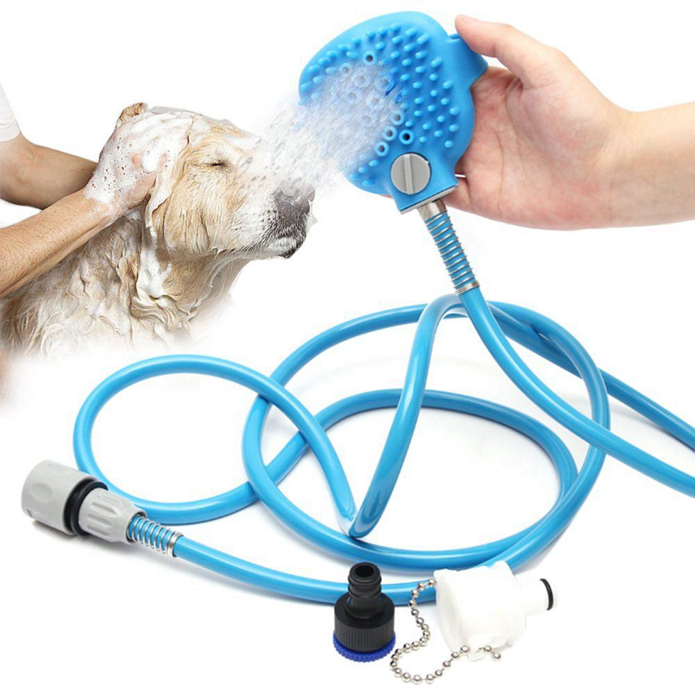 Hot Pet Bathing Tool Comfortable Massager Shower Tool Cleaning Washing Bath Sprayers Palm-Sized Dog Scrubber Sprayer Hand Mass spazzola per pettinare i cani