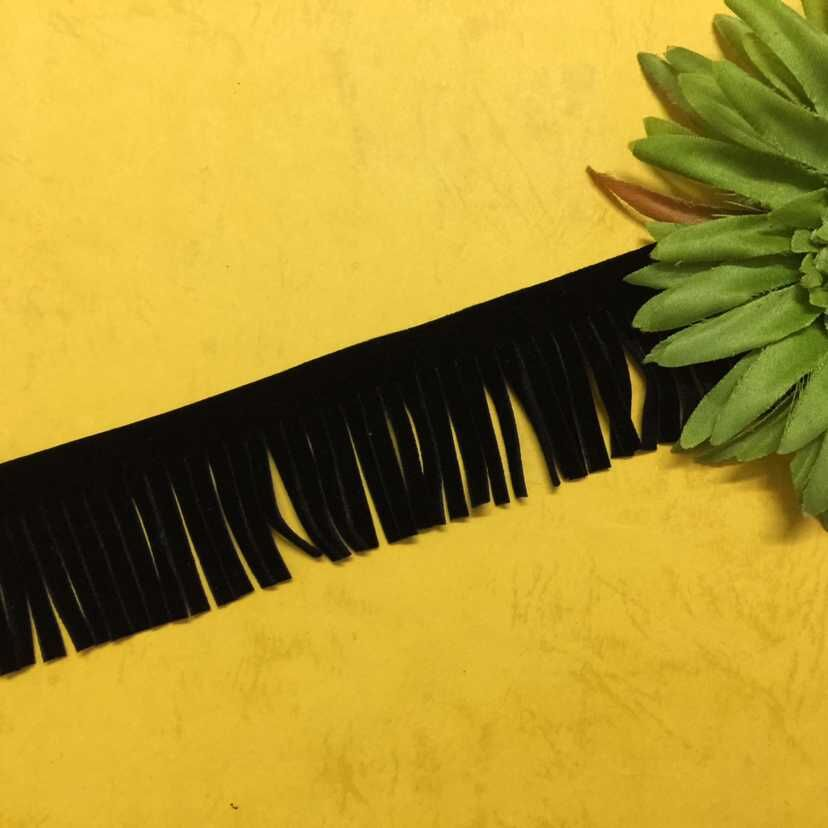 Free Shipping 70mm Tassel Length  Suede Flat Leather Cord For Bag/ Cloth/Curton Accessory DIY