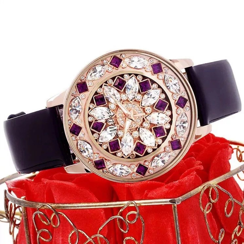 Melissa Women Luxury Rhinestones Jewelry Watches Crystal Flower Watch Quartz Fashion Lady Dress Wrist watch Leather Montre Femme matisse fashion austria crystal ultral thin leather watchband office fashion women girl buiness lady quartz wrist watch