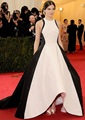 UK-32 Único blanco y negro asimétrico vestido de noche formal hailee steinfeld met gala new york red carpet celebrity dresses 2017