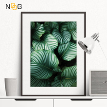 NOOG Nordic Minimalist Canvas Poster Green Tropical plants Palm leaves canvas wall picture Living Room Home Decor No frame