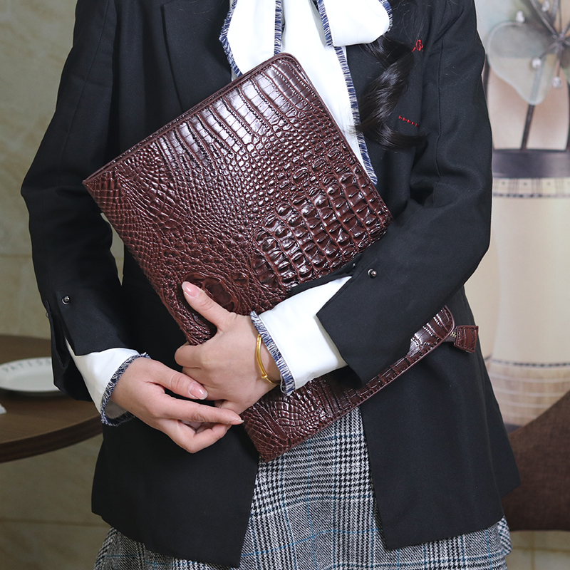 Badenroo New Alligator Crocodile Leather Women Clutch Bag Simple Envelope Day Clutches Female Handbag Mujer Embrayage Sac Bolsas