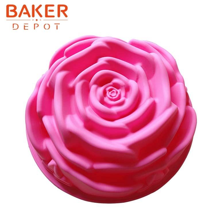 Madeleine rose molde de pastel de silicona herramientas para hornear - Cocina, comedor y bar