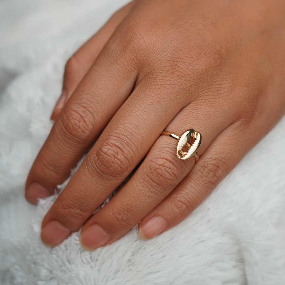 Smjel BoHo Sliver Warna Emas Cincin untuk Wanita Shell Pesta Pernikahan Cincin untuk Wanita Fashion Perhiasan Bague Femme Anillos Mujer
