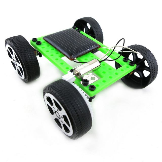 Mini Solar Power Energy DIY Kit Children Toy Light Sound Pull Back Cars Model Breadboard Funny Racing Racer Educational Gadget