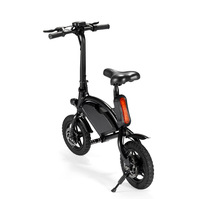 12 Inch Mini Foldable Electric Scooter Folding Bike Electirc Car Bicycle hub motor with rear reflector