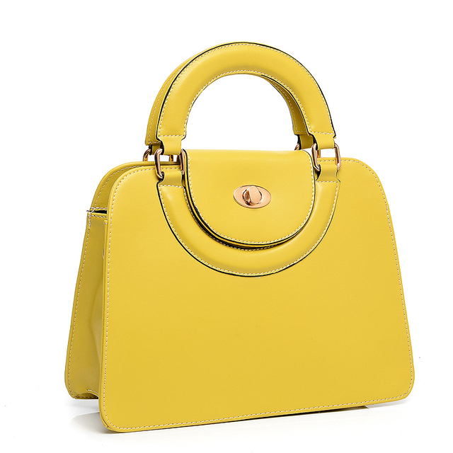 Bag Yellow New Women Split Leather Candy Color Zipper Casual Tote Hand Bag Famous Brand Designer Handbags N208