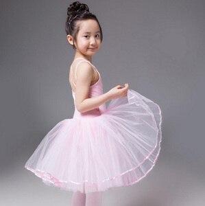 Image 3 - Robe de danse de Ballet pour filles, jupe de danse blanche, pour enfants, gilet, justaucorps, exercices quotidiens, haute qualité, Ballet en coton, nouveauté 2020