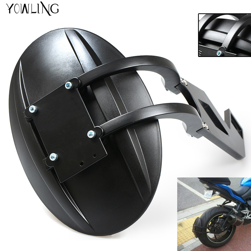 high quality black color motorcycle parts rear fender CNC aluminum motorbike mudguard for benelli BN300 bn600 tnt600 tnt300 600 motorcycle high quality black cnc