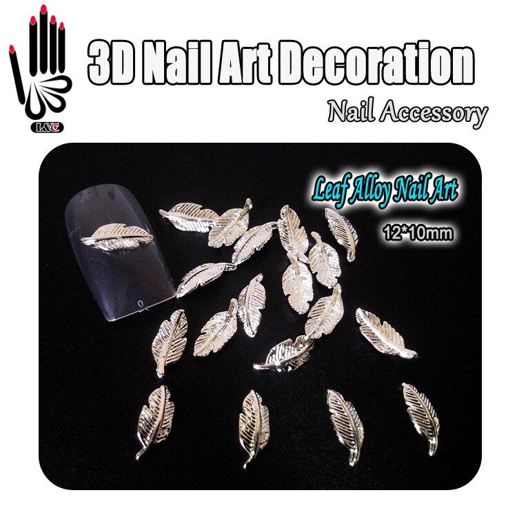 Nail Art 10pcs/Lot 3D Leaf Design Metal Nail Art Decoration Alloy Nail Accessory Free shipping